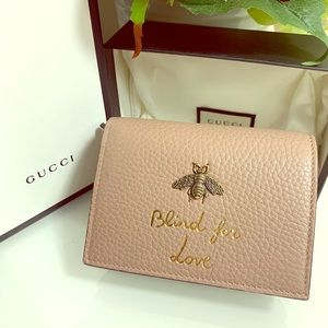 Gucci Animalier Blind For Love Card Case Wallet